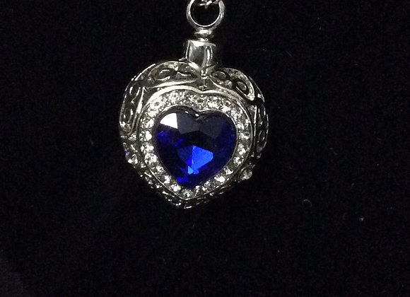 Blue Heart Necklace