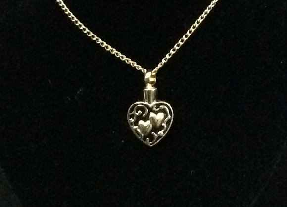 Gold Double Heart Necklace