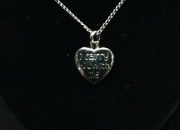 """I carry you with me"" Cremation Necklace"