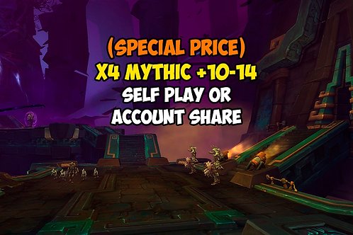 x4 Mythic +10-14 In Timer US