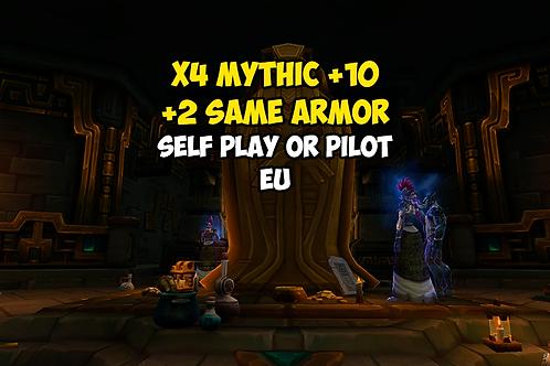 X4 Mythic +10 In Timer +2 Same Armor EU