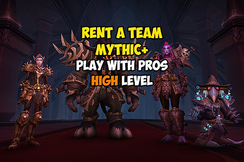 Rent a Team (Play with Pros) High Level US