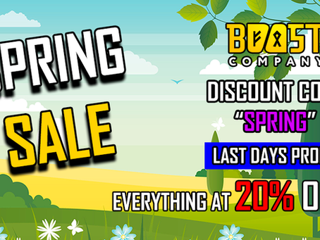 [UPDATE] NEW PRICES AND LAST WEEK SPRING SALE 20% OFF