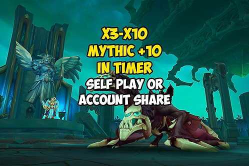 x3-x10 Mythic +10 In Timer