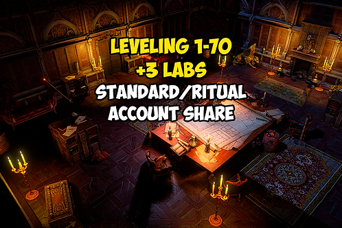 Leveling 1-70 + 3 LABS