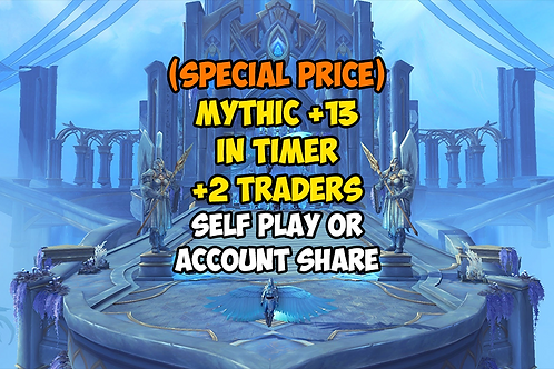 [PROMO] Mythic +13 In Timer +2 Traders