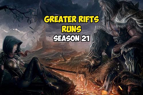 10 Greater Rifts Runs Season 21 EU