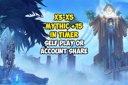 x3-x5 Mythic +15 In Timer US