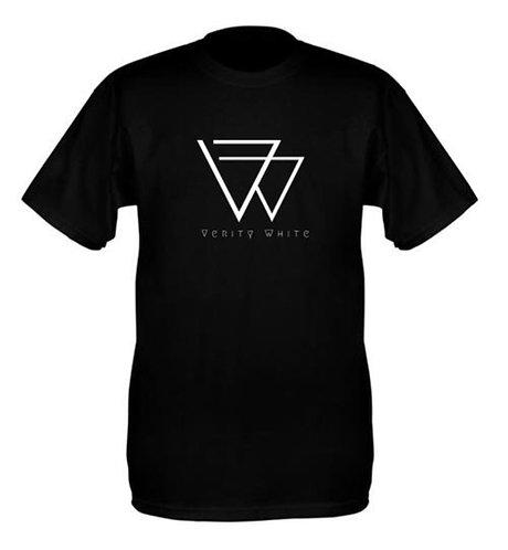 Plain black logo tee