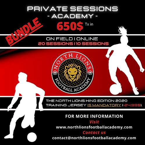 Winter 2021 - Academy Private sessions | Hiver 2021 - Séances privée d'académies