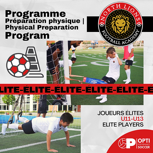 U11-U13 | Programme Préparation Physique | Physical Preparation Program