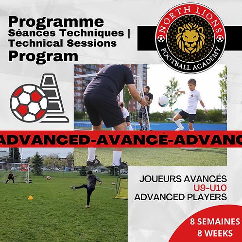 U9-U10   Programme Séances Techniques   Technical Sessions Program
