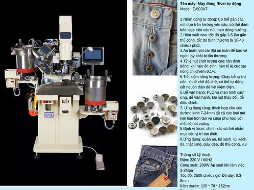 Máy đóng Rivet hoàn toàn tự động Model  E-603AT (cúc sắt)