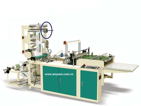 Clip hoạt động máy cắt dán túi nilon liên hoàn