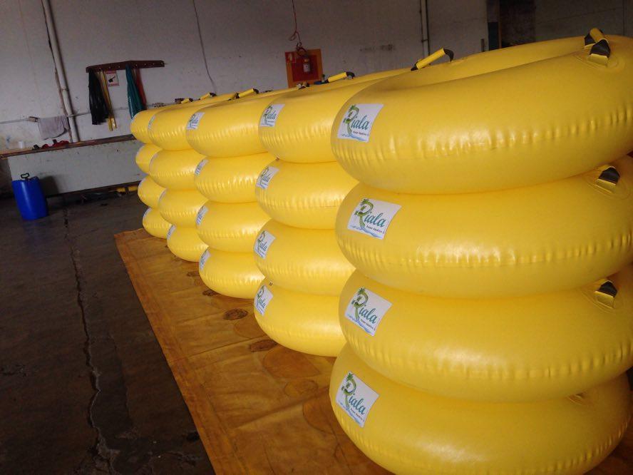 Boias individuais pneumáticas
