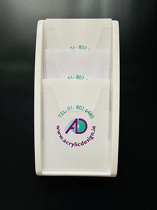 White styrene 3 A4 pocket w/m holder