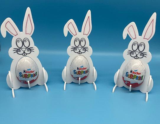 Kinder Egg Bunny Holder - Pack of 3