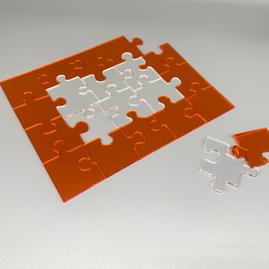 Neon & Clear Acrylic Jigsaw 4