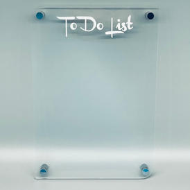 Wallmounted Perspex To Do List