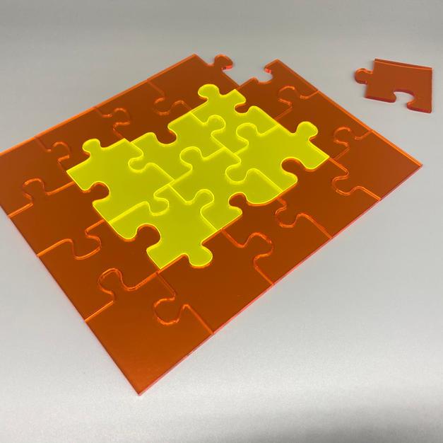 Acrylic Neon Jigsaw 2