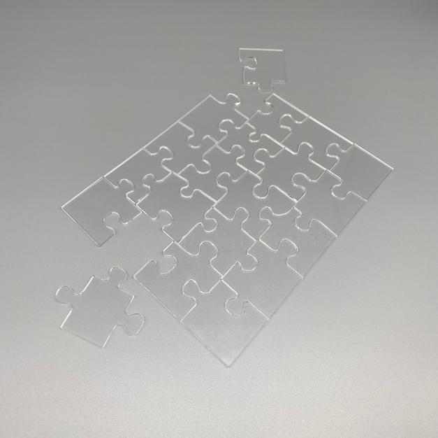 Acrylic clear Jigsaw 1