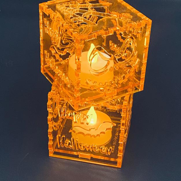 Decorative tea light display Halloween