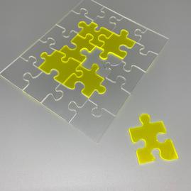 Clear & Neon Acrylic Jigsaw 3