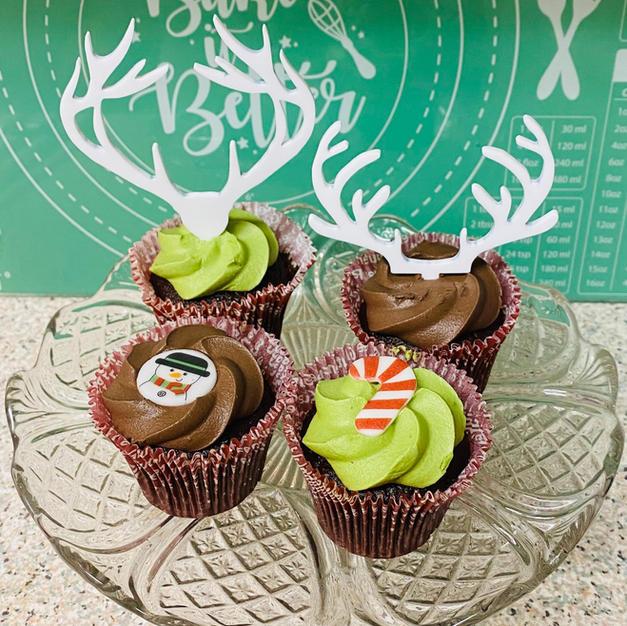 Reindeer cupcake toppers