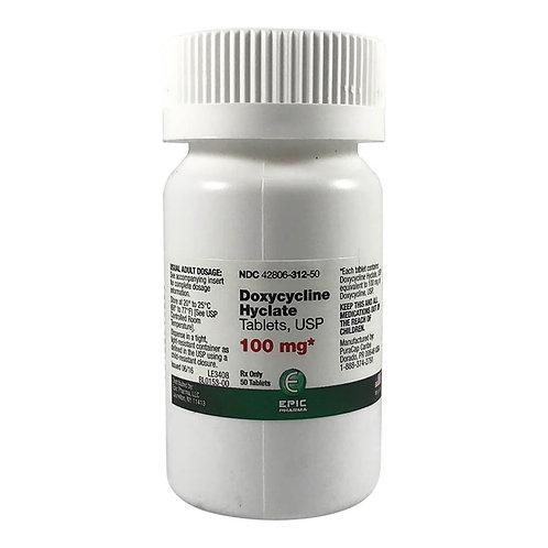 Doxycycline Rx, Tablet, 100 mg x 50 ct