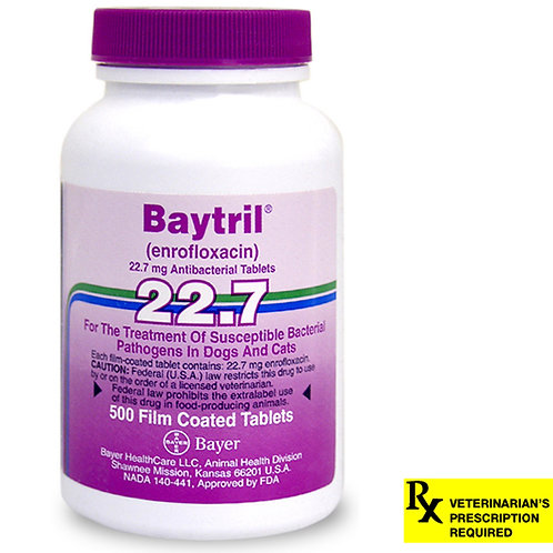 Baytril Rx, Tablets, 22.7 mg x 500 ct