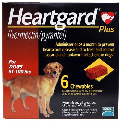 Heartgard Plus Rx, 51-100 lbs, 6 Month (Brown)