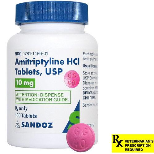 Amitriptyline HCL Rx, 10 mg x 100 ct