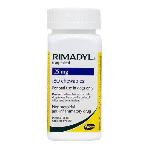 Rimadyl Rx, Chewables, 25 mg x 180 ct