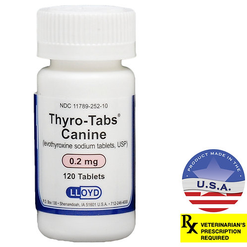 Thyro-Tabs Rx, 0.2 mg x 120 ct