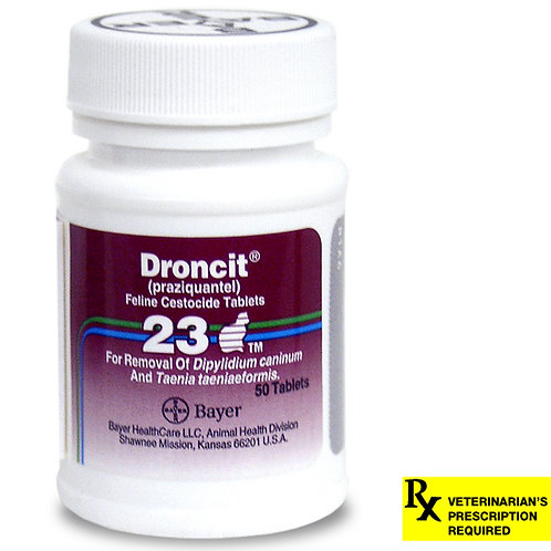 Droncit Rx for Cats, 23 mg x 50 ct