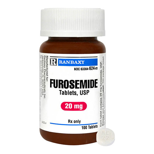 Furosemide Rx Tablets, 20 mg x 100 ct