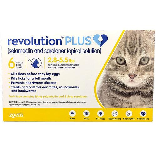 ORM-D Rx Revolution Plus Topical Solution, Feline,  2.8-5.5 lbs, 6 months