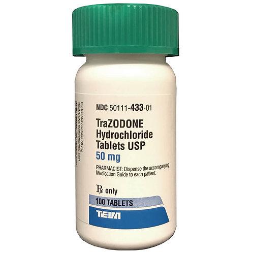 Rx Trazodone 50 mg x 100 Tabs