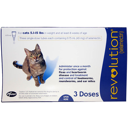 Revolution Rx for Cats, 5.1-15 lbs, 3 Month (Blue)
