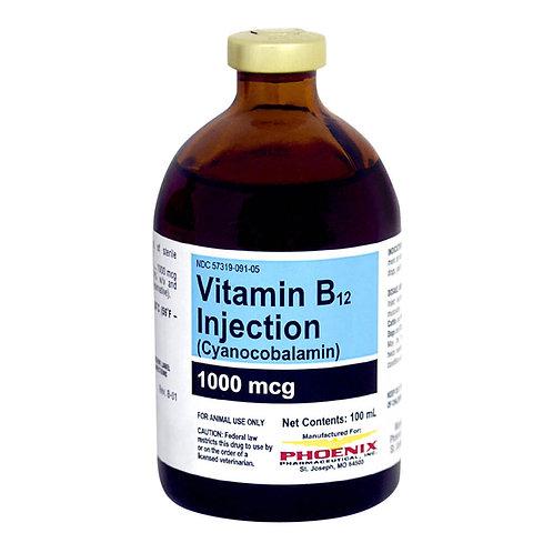 Rx Vitamin B-12 Injectable, 1000mcg/ml, 100ml bottle