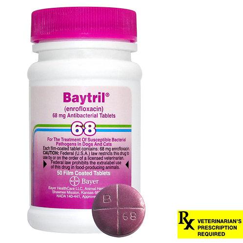 Baytril Rx, Tablets, 68 mg x 50 ct