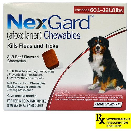 Rx NexGard,Dog 60.1-121lb, 6 month