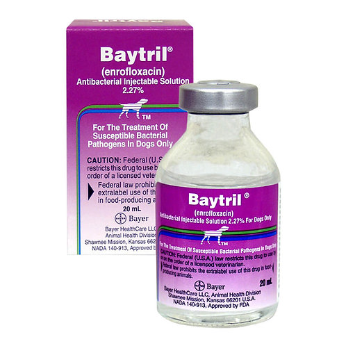Baytril Injectable Solution Rx 2.27%
