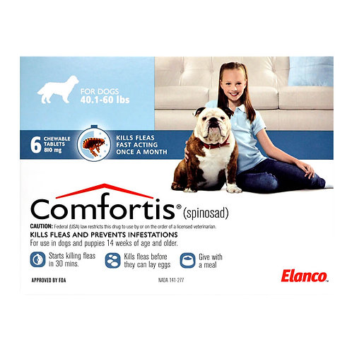 Comfortis Rx, 40.1-60 lbs Dogs, 6 count, Blue