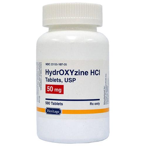Hydroxyzine HCL Rx, 50 mg X 500 Tablets