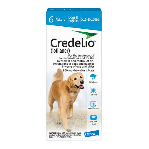 Rx Credelio 50.1-100 lbs, 6 month, Blue