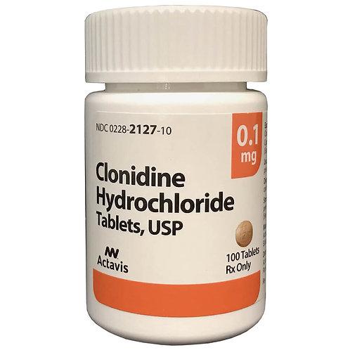 Rx Clonidine 0.1 mg x 100 Tabs
