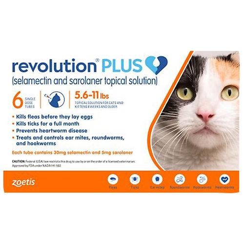 ORM-D Rx Revolution Plus Topical Solution, Feline, 5.6-11 lbs, 6 months