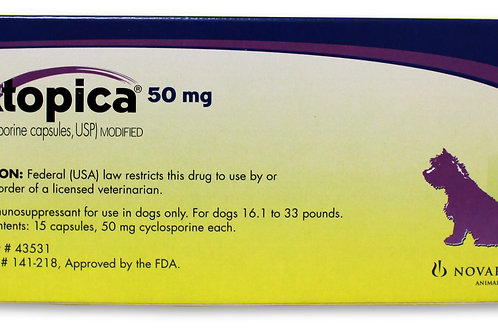 Atopica Rx, Dogs 16.1-33 lbs