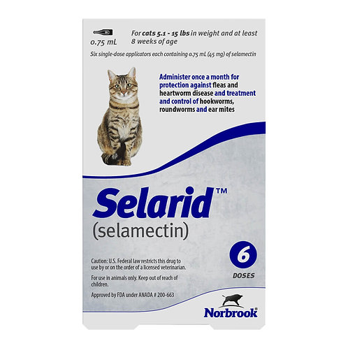 ORM-D Rx Selarid, Sm/Md Cat, 6 Month